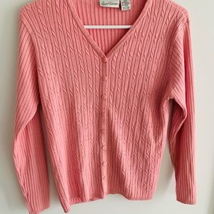 Very soft pink Gloria Vanderbilt sweater